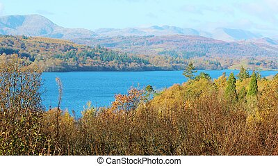 Lake Windermere - A colourful Image of Lake Windermere in...