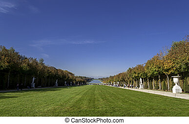 Garden of Versailles Palace - VERSAILLES - October 19:...