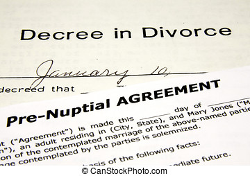 Pre-Nuptial agreement over a Divorce Decree.