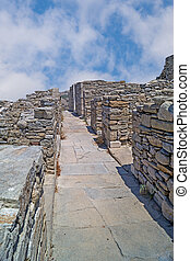 ruins of greek ancient city of delos