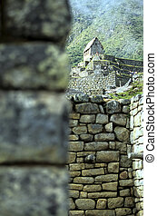 Machu Picchu- Peru - Hut of the Caretaker of the Funerary...
