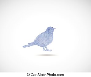 Watercolor titmouse - Watercolor style vector illustration...