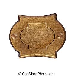 vintage brass number plate