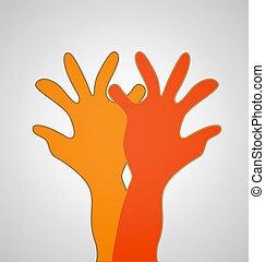 Hands expressive logo image