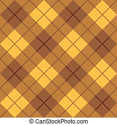 Bias Plaid in Brown and Yellow