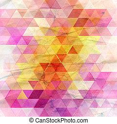 patrón, brillante, Extracto, triángulos