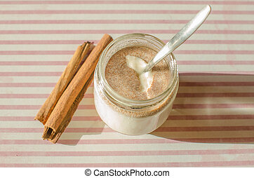 cinnamon yogurt - My delicious homemade cinnamon yogurt