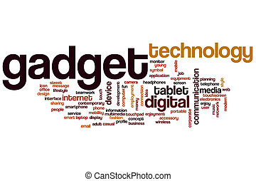 Gadget word cloud concept