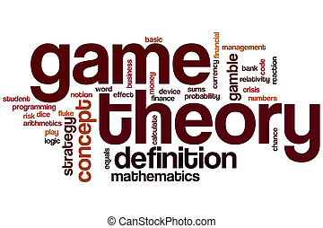 Game theory word cloud concept