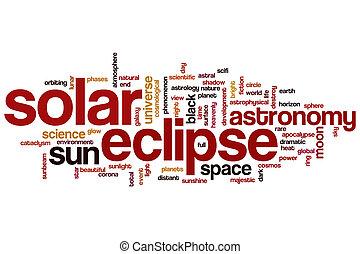 Solar eclipse word cloud concept