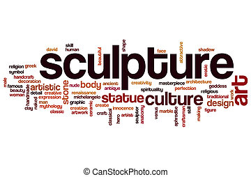 Sculpture word cloud concept