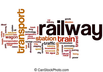 Railway word cloud concept
