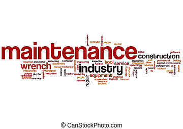 Maintenance word cloud concept