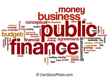 Public finance word cloud concept