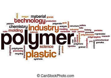 polímero, palabra, nube,