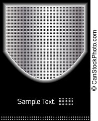 Abstract chrome shield and black background - Abstract shiny...