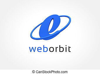 Abstract colored web character logo icon concept. Logotype...