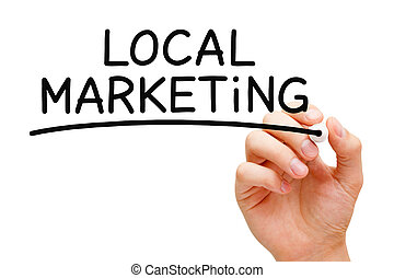 Local Marketing - Hand writing Local Marketing with black...