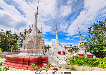 Pagoda and stupa Inle lake, Shan state of Myanmar
