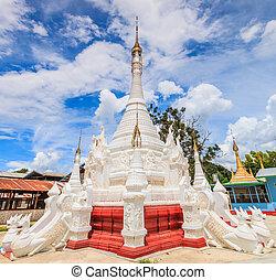 Pagoda and stupa Inle lake, Shan state of Myanmar