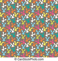 Colorful seamless pattern with easter bunny Vector...