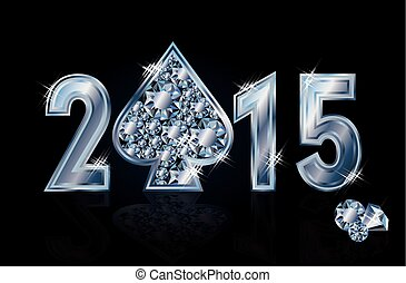 Happy 2015 New year spade poker - Happy 2015 New year...