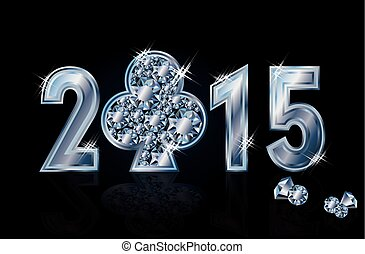 Happy 2015 New year poker club - Happy 2015 New year diamond...