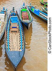 Boat in Inle Lake Shan State, Myanmar
