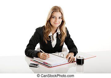Business Woman - Portrait of a beautiful business woman in...