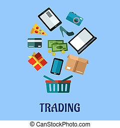 Tradingflat poster design for online shopping - Trading flat...
