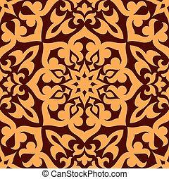 Bold geometric muslim seamless pattern