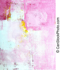 Pink and Yellow Abstract Art
