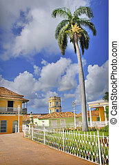 Trinidad town, cuba - A view of Plaza mayor in trinidad...