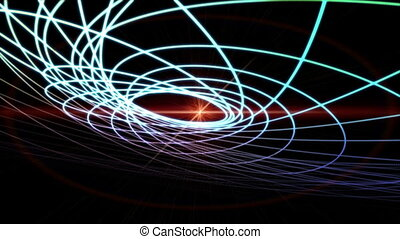 Futuristic video animation, loop HD - Futuristic video...