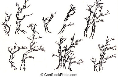 chinese paint some kind of tree