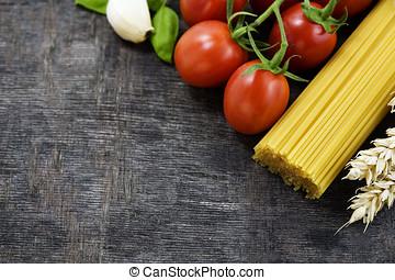 Italian cuisine - Symbolic arrangement of the Italian...