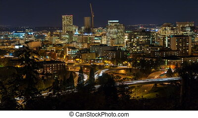 Time Lapse of Traffic Portland OR - Time Lapse Movie of Fast...