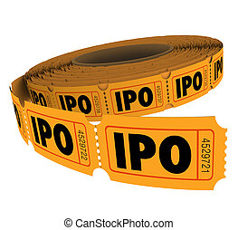 IPO Initial Public Offering Company Business Raffle Ticket...