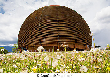 CERN building in Geneva, Switzerland - CERN, The European...