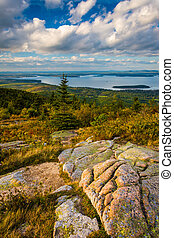 Evening view from Caddilac Mountain, in Acadia National...