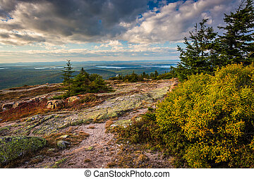 View from Blue Hill Overlook in Acadia National Park, Maine
