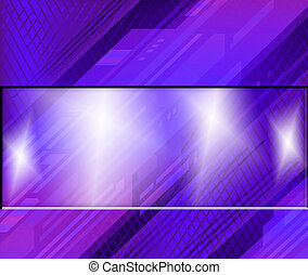 Purple Background with place for