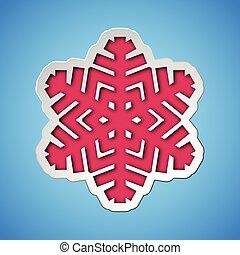 corte, afuera, copo de nieve, navidad