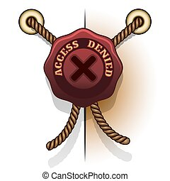 access denied prohibition seal icon