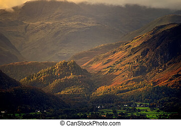 Borrowdale in Autumn - Autumn scene of Borrowdale in the...