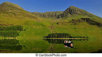 Buttermere Fells. - Buttermere in the English Lake District.