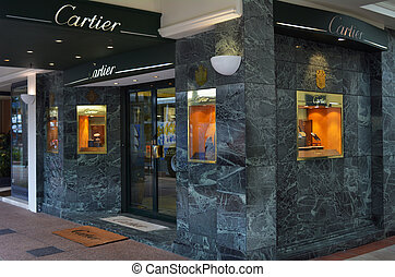 Cartier jewelry store - SURFERS PARADISE, AUS - NOV 03...