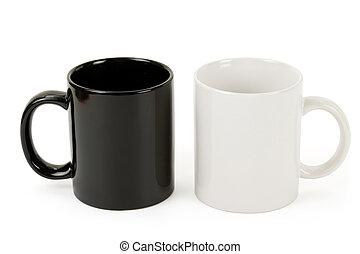 Black and white mug close up shot