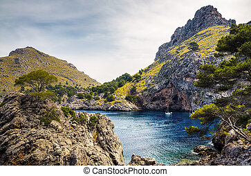 Sa Calobra - A view from the Sa Calobra on Majorca.