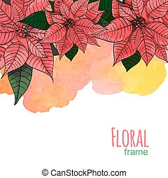 Poinsettia flower background for invitation card -...